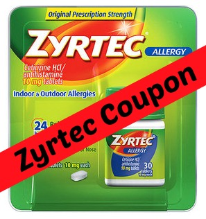 photograph about Printable Zyrtec Coupon titled Zyrtec Discount coupons: $4 Off Printable Discount codes