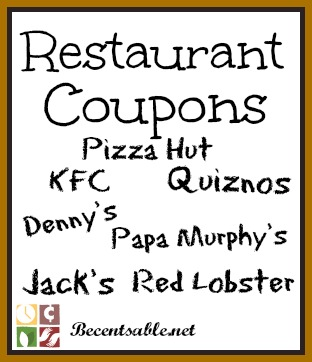 graphic about Papa Murphys Printable Coupons identify Cafe Coupon codes: KFC, Pizza Hut, Papa Murphys And Further more