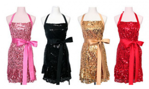 Domestic Glitz: Sequin Aprons