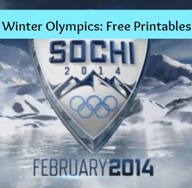 Winter Olympics 2014 Free Printables:
