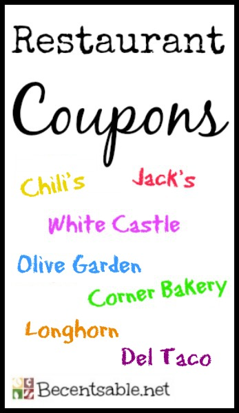 Restaurant Coupons Olive Garden Chili 39 S Longhorn Hardee S And More