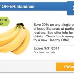 Coupons For Produce: 20% Off Bananas