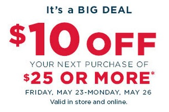 picture regarding Kohls Coupons Printable referred to as Kohls Memorial Working day Coupon codes: Printable $10 Off Coupon