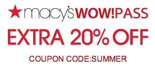 Macy's Wow Pass: 20% Off Macy's Coupon