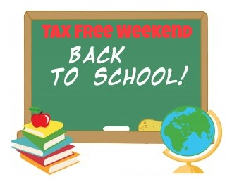 back to school Tax Free Weekend