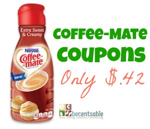 Printable Coffee-mate Coupons- – Save with a few offers available for amazing savings this year: $ off two 15oz or larger packages of Coffee-mate liquid or powder any variety $ off one 15oz or larger package of Coffee-mate liquid or powder any variety.