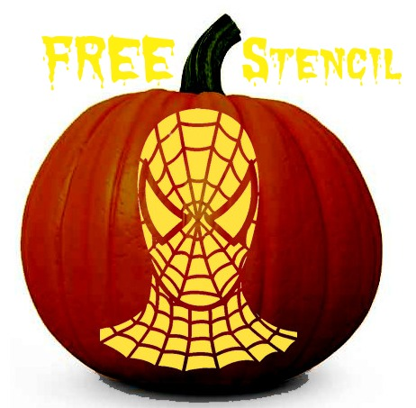 spiderman pumpkin stencil