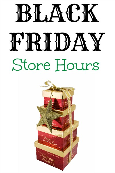 Here is your official list of Black Friday Store Hours! We will update this list with new information as soon as we have it. If you're interested, you can also view our comprehensive list of stores that are closed on Thanksgiving.
