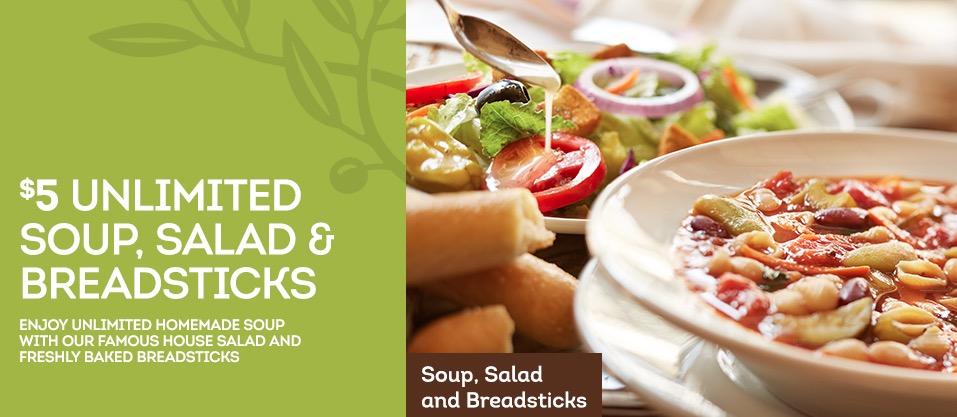 Olive Garden Lunch Coupon 5 Unlimited